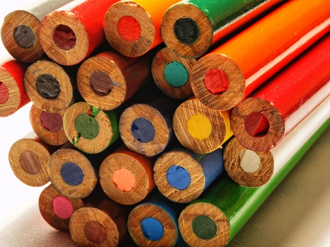Close-Up Of Colorful Pencils