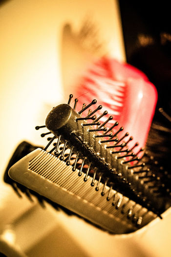 Brushes Close-up Extreme Close-up Focus On Foreground Hair Hair And Beauty Hair Brush Indoors  Modern No People Selective Focus