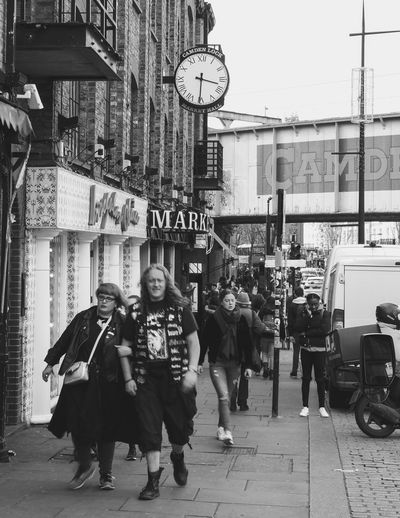 Archival Street City Clock Adult Adults Only Day Outdoors People Blackandwhite Black And White Black & White Bnw Streetphotography Street Photography CandemTown Candem Town Candemlock London Streets London EyeEm LOST IN London Postcode Postcards Black And White Friday Stories From The City