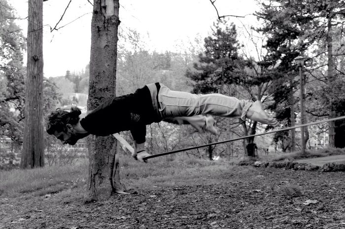 Power slackline. NevermindRecords Power Slackline People People Are Awesome Sport Equilibrium Blackandwhite