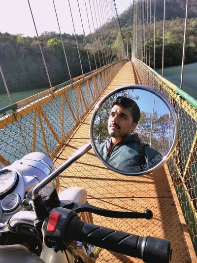 Hanging Bridge Shivapura Royalenfield River View River Wildlife & Nature Hanging Bridge Bike Ride Water Day Photography Dandeli Connects Yellapur Shivapura Mirror