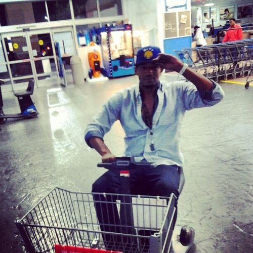 In wal mart stuntin in my new whippppp ridin around for some new chippppps! Doritos Lays