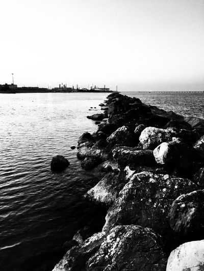 No one is born under an unlucky star. There are men who look bad the sky. [Dalai Lama] Industrial Landscape EyeEm Best Shots - Black + White Eyeembestbw Adriatic Sea Sowcase : January