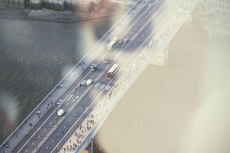 Transportation No People Architecture Outdoors City Day London Bridge Bus