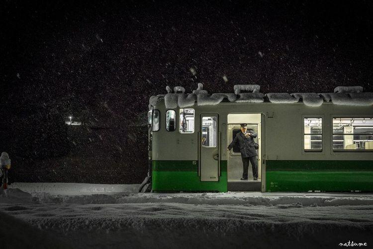 タイムトゥーゴー Train 只見線 Snow FUKUSHIMA 会津 Train Station SonyA7s First Train The Moment - 2015 EyeEm Awards