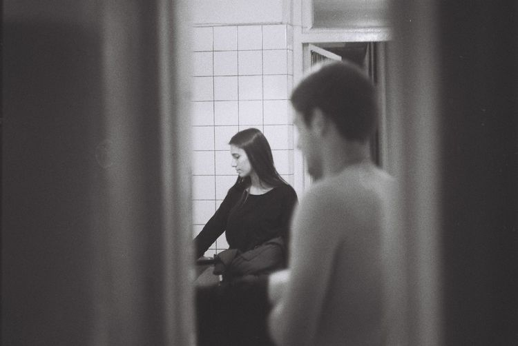 Analogue Analogue Photography B/W Photography Film Illfordhp5 Lovers Indoors  Kitchen Art People Romeoandjuliet