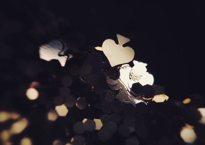 One of a Kind Background Glitter Gold Spade Gold Shapes Shapes Macro Close-up No People Black Background Day