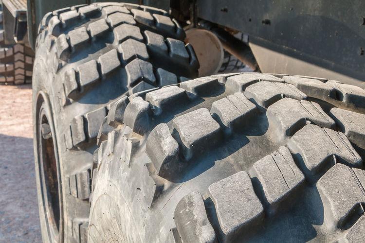 Close-up of machine part of car