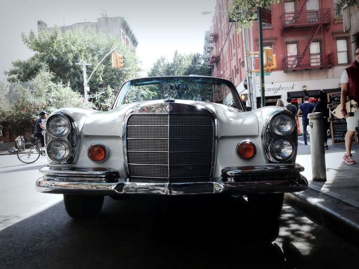 Mercedes Benz Convertible Classic Car Manhattan