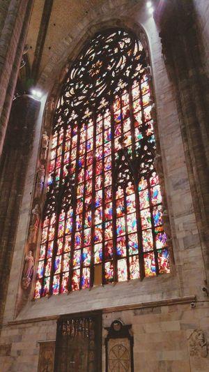 stain glass Duomo milan Milano Architecture