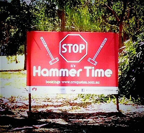 Red Banners SignstalkersBanners Stop Sign Signs Hammertime Hammer Time Signporn M C Hammer MC Hammer!!