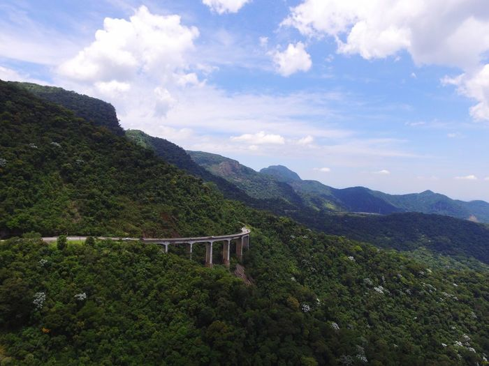 Bridge Petrópolis Road In The Forest Road In Mountains Road Bridge Over Florest Bridge Mountain Cloud - Sky Sky Beauty In Nature Plant Scenics - Nature Tranquil Scene Nature Green Color Day Tree Mountain Range
