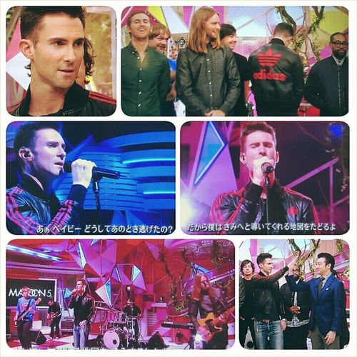 Weeeeeeee🎊🎊 Maroon5 was on Japanese TV show スッキリ and performed Maps this morning :)💓