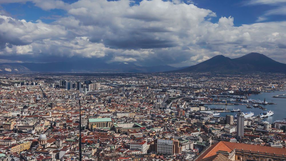 Napoli Naples, Campania, Italia Italy Aerial View Beautiful City City Life Cityscape Cityscapes Cloud - Sky Colorful Famous Place Italia Italy Landscape Mountain Napoli Sightseeing Spaccanapoli Summer Tourism TOWNSCAPE Travel Travel Destinations Traveling Vacation Vesuvio Volcano