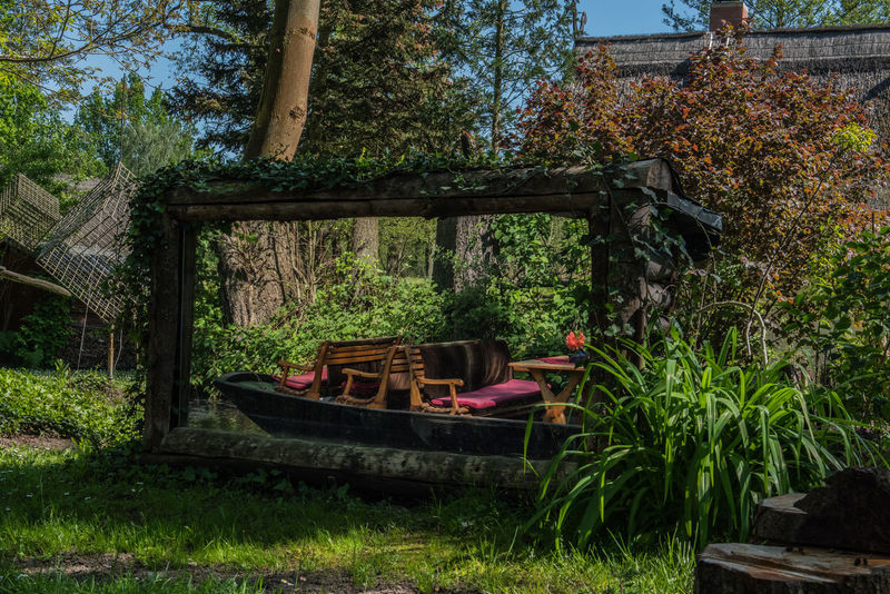 Barge Beauty In Nature Boat Day Flower Forest Grass Growth Mirror Mirror Reflection Mirror Shot Nature No People Outdoors Spreewald Tranquility Tree Tub