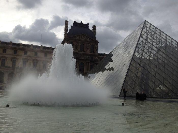 Architecture Water Built Structure Travel Destinations History Outdoors #pirâmide LouvreBuilding Exterior