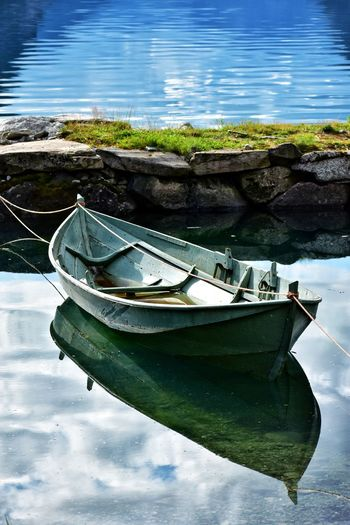 wooden boat at