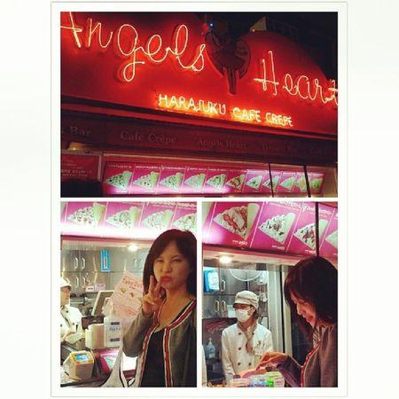 ANGEL'S HEART CREPES at TakeshitaDori Harajuku in Tokyo Japan Jp 20140427