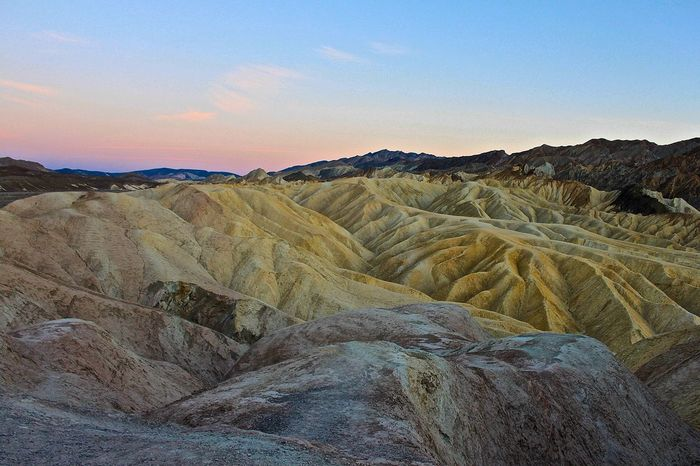 Arid Climate California Colorful Death Valley Desert Desert Beauty Deserts Around The World Furnace Creek Geology Landscape Nationalpark Nature Outdoors Tranquil Scene Tranquility Zabriskie Point The KIOMI Collection