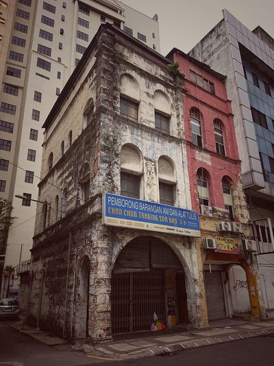 Low angle view of old building