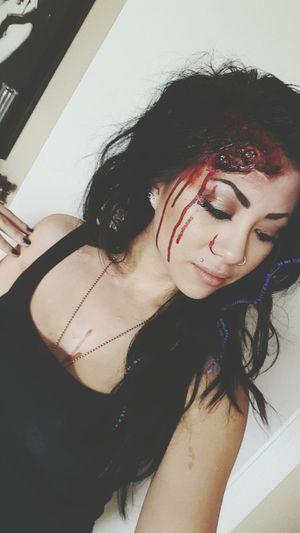 One Woman Only Beauty Portrait Indoors  Close-up Darkness And Beauty Selfie Makeup Art Makeup ♥ Makeupartist Sfxmakeup