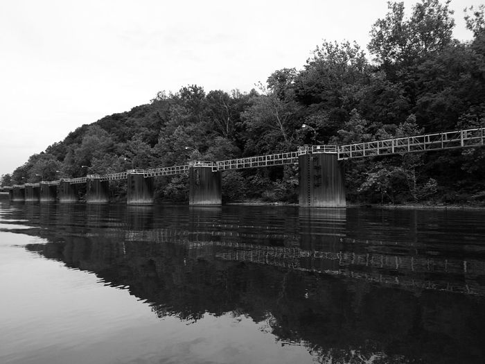 B&w_friday_eyeemchallenge Black And White Photography Ohio River Geometric Shapes Geometric Structures Riverside View Black And White Collection  Reflection_collection From The Water Level River Collection Coal Burning Power Plant Unloading Station Docks Shippingport Pennsylvania