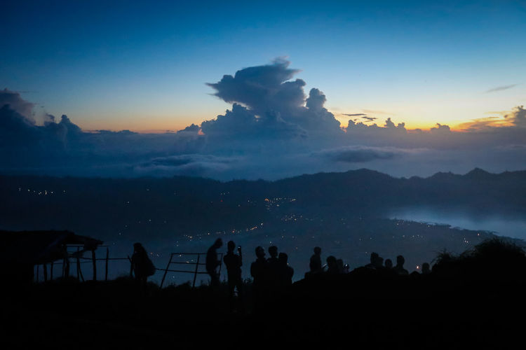 Panorama Ubud Beauty In Nature Blue Cloud - Sky Copy Space Dark Dusk Idyllic Landscape Mountain Mountain Range Nature Outdoors Outline Scenics Silhouette Sky Sunset Tranquil Scene Tranquility Tree