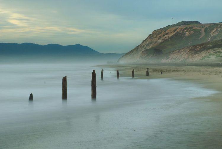 Beautifully misty night at Fort Funston. San Francisco Urban Nature EyeEm Best Shots Ocean EyeEm Nature Lover Water Reflections