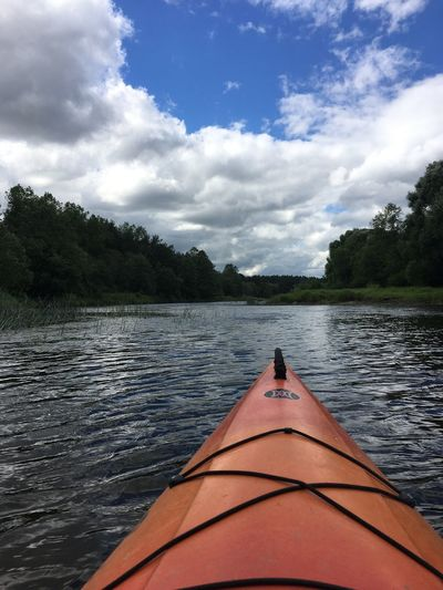 Kayak Sport River Cloud - Sky Water Sky Tree Plant Nature Lake Nautical Vessel Day Beauty In Nature