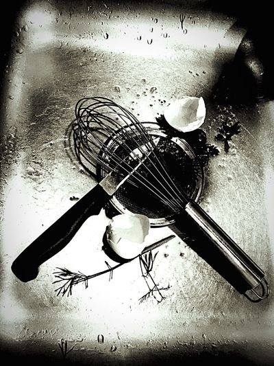 Taking Photos Droplets B/W Photography Hello World Whisk Eggshells Stainless Steel  Un Used Herbs Ckean Up
