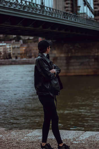Camera - Canon 550D -Lens - 50 mm f/1.8 Blog : https://www.instagram.com/david_sarkisov_photography/ One Person Real People Standing Full Length Water Built Structure Lifestyles Architecture Technology Clothing Connection Focus On Foreground Day Leisure Activity Building Exterior Side View Young Adult Men Outdoors Warm Clothing Streetwise Photography