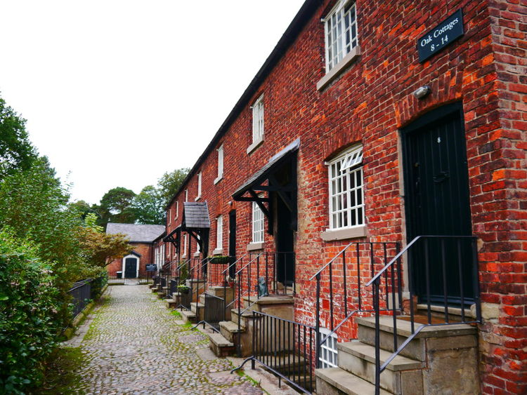 Quarry Bank Mill Architecture Building Exterior Built Structure Building Window Residential District Sky House Clear Sky Nature Wall Brick No People Day Brick Wall City Outdoors Footpath Plant Direction Row House