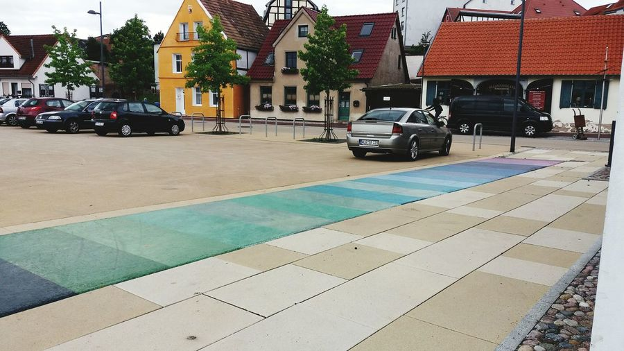 Coloured Street Parking Lot