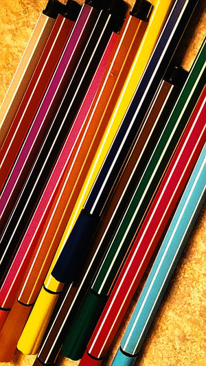 color Color Colors Markers  Coloring Book Art Art Utensils Pop Eyecatchingpicture Multi Colored Yellow Backgrounds Indoors  Pattern Full Frame No People Close-up EyeEm Ready   AI Now EyeEmNewHere