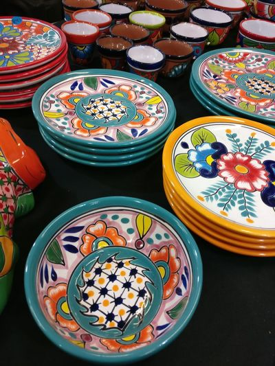 Choice No People Plate Food And Drink Variation Multi Colored Indoors  Food Market Close-up Mexican Food Day Plate Dishes Colorful