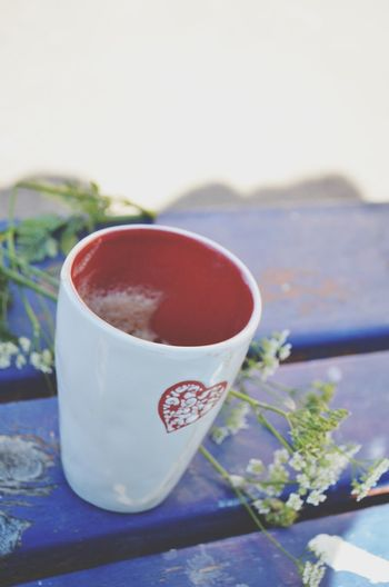 Queen Anne's Lace Morning Coffee Heart Vintage Table Soft Light Soft Pastel  Coffee Cup Train Station Vintage❤ Summer ☀