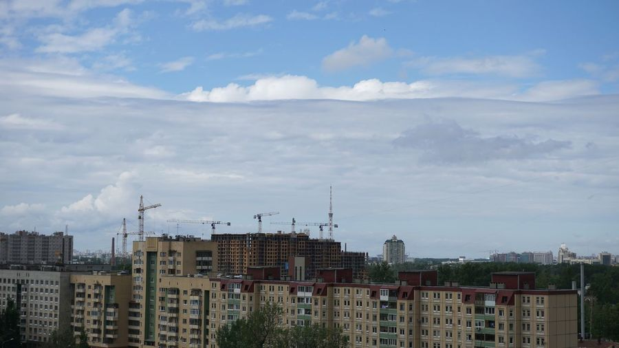 Cloud - Sky Built Structure Cityscape Sky Extreme Weather No People Nature