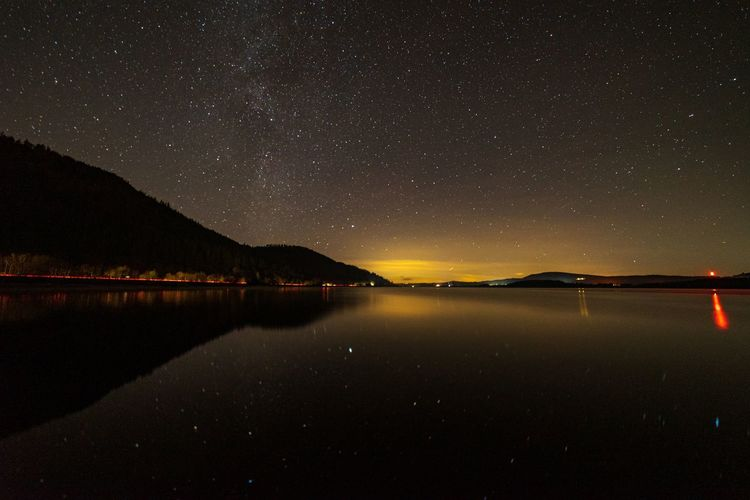 The milky way above bassenthwaite lake and the a66