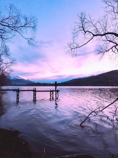 Lowexposure Lowexposurephotography Nature Beauty In Nature Sky Water Silhouette Scenics Sunset Tranquility Tranquil Scene Lake Real People Outdoors Standing Men Tree Full Length Lifestyles Togetherness Mountain Bare Tree Queenstown LakeHayes