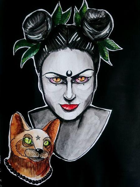 😈 Illustration Art ArtWork Painting Acrylic Painting Watercolor Cat