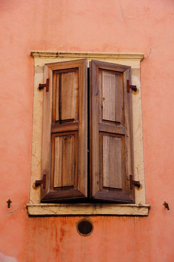 Architecture Brown Building Exterior Built Structure Close Close-up Closed Closed Closed Window  Day House Mediterranean  No People Outdoors Window Window Shutters Wood - Material Shutter Shutters