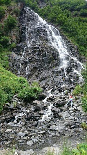 To challange oneself with a dangerous climb Alaska Waterfall Valdez Beautiful Nature Beautiful Waterfall Naturelover Paradise Landscapes