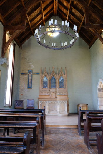 Shot at Montsalvat, Eltham. Architecture Built Structure Chair Day History Indoors  No People Place Of Worship Travel Destinations Wood - Material
