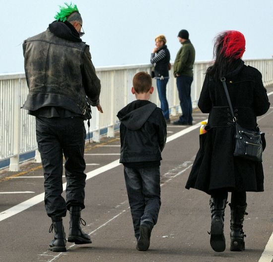 Severn Bridge Taking Photos Punks Not Dead Punk Family Mum Dad And Son Too Cool For School