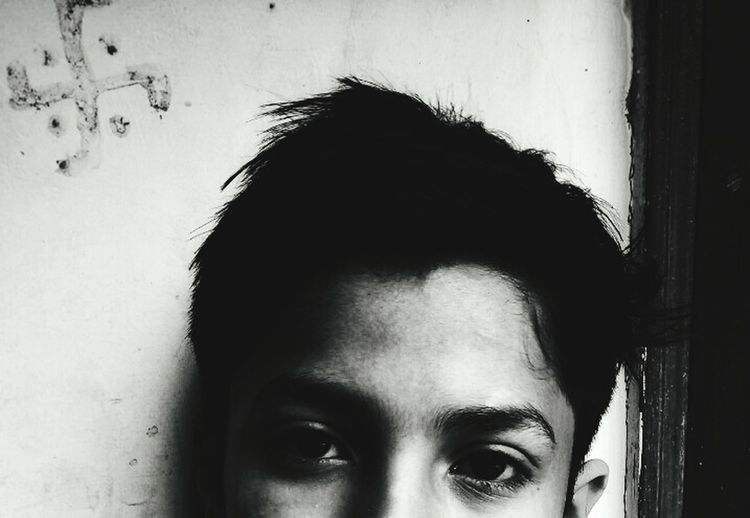 Blackandwhite Blackandwhite Photography Hinduism Satvic Humans People Long Goodbye BYOPaper! Live For The Story First Eyeem Photo Boys Guys Human Face 90s 90s Kid