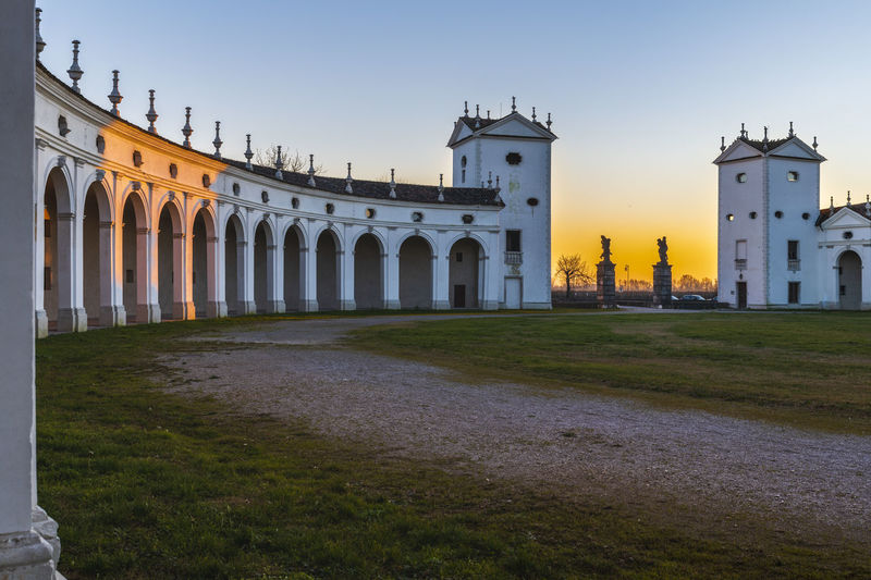 Historic building against clear sky