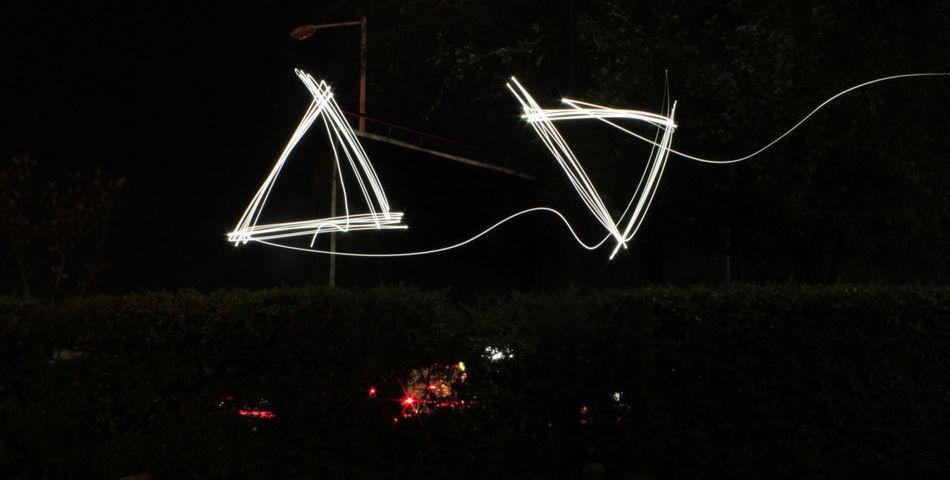 Light Painting López Mateos Night Triangles Bulbo Igersgdl Hanging Out Hello World Enjoying Life