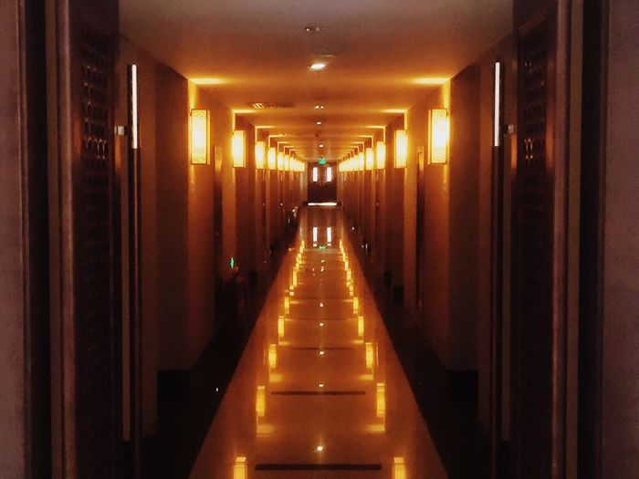 Hotel Corridor Light Light And Shadow First Eyeem Photo Tour In Another City FAR AWAY Yellow Light Warm Colors Light In The Darkness Quite