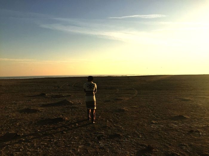 Forgotten finds Salton Sea Beach Sky Sea Full Length One Person Sunset Real People EyeEmNewHere Colour Your Horizn