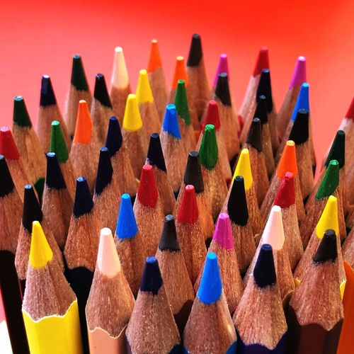 EyeEm Selects Multi Colored Pencil Large Group Of Objects Variation Writing Instrument Colored Pencil Education Arts Culture And Entertainment Art And Craft Equipment Vibrant Color No People Still Life Creativity Studio Shot Close-up Abundance Art And Craft Selective Focus Indoors  Choice